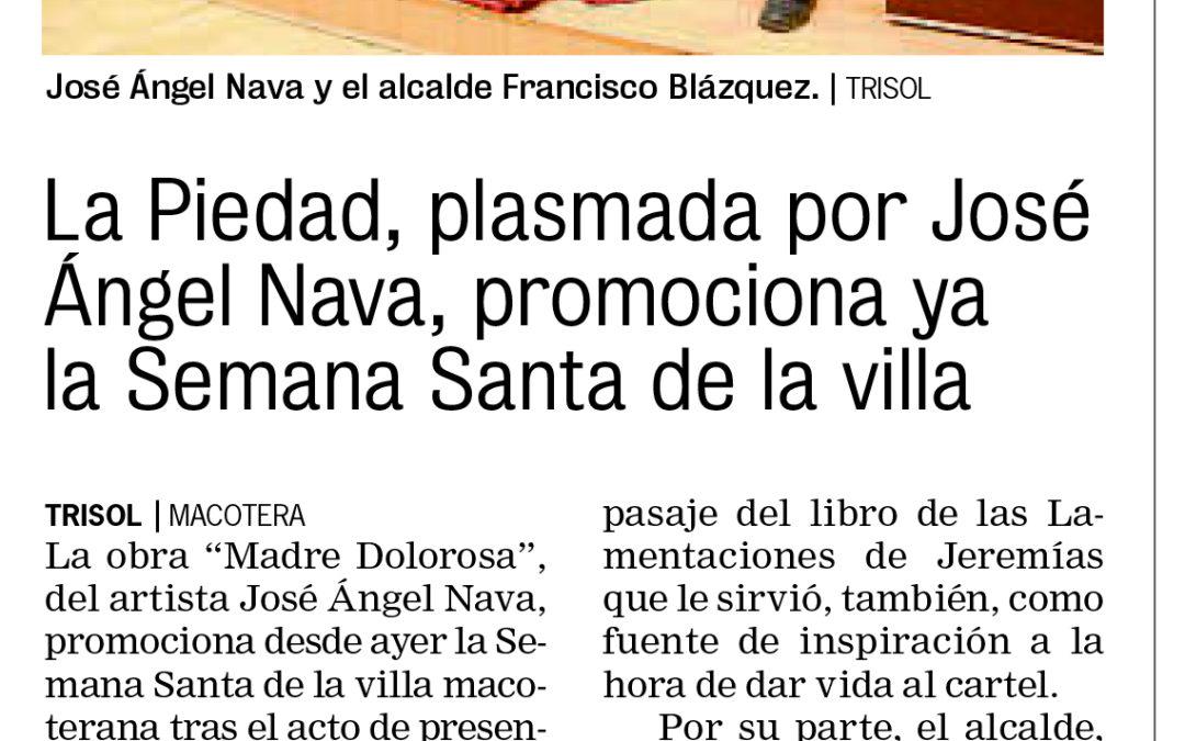 La Piedad, plasmada por José Ángel Nava, promociona ya la Semana Santa de la villa