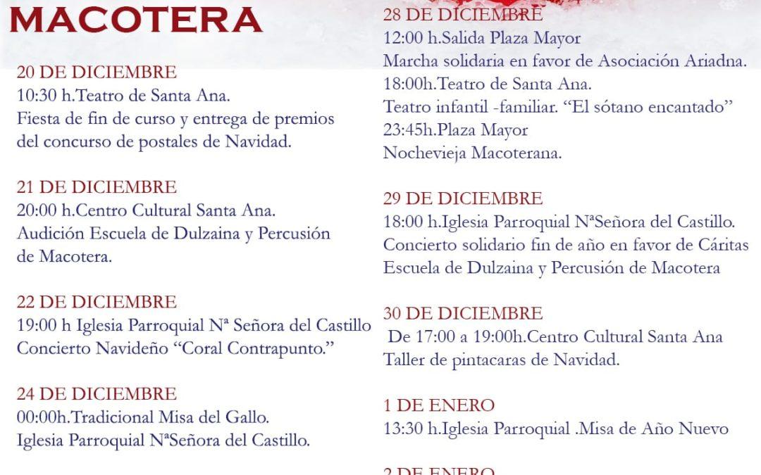 Actividades Navidad 2019 en Macotera