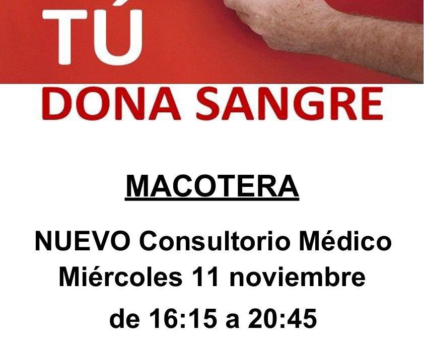 Dona sangre el próximo 11 de noviembre