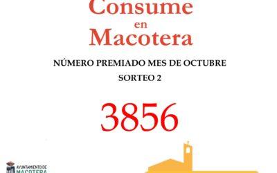 Nuevo número premiado Octubre 'Consume en Macotera'