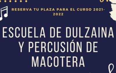 Escuela de Dulzaina y Percusión – Reserva plaza 2021/2022